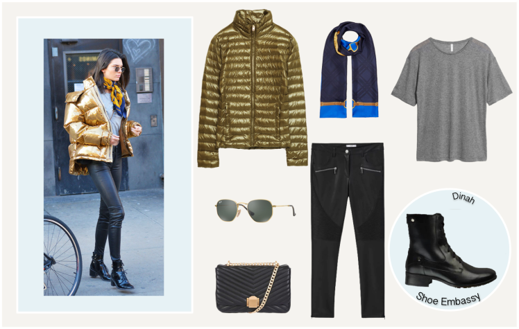 kendall jenner gold puffer jacket outfit.png